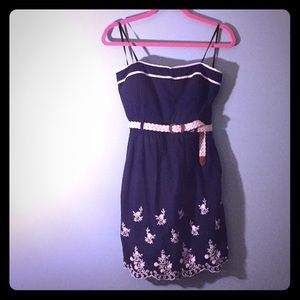 NWOT ModCloth 'City Triangles' strapless dress